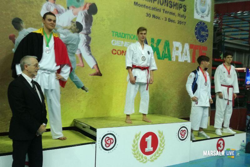 Vito Margiotta al Mondiale di karate di Montecatini