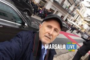 Gaspare Barraco con auto Mattarella