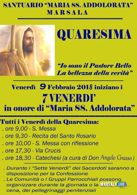 7 Venerdì Maria Santissima Addolorata Marsala