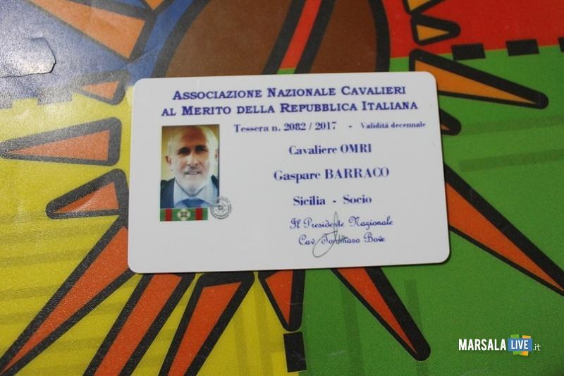 Gaspare Barraco tessera di socio Ancri -