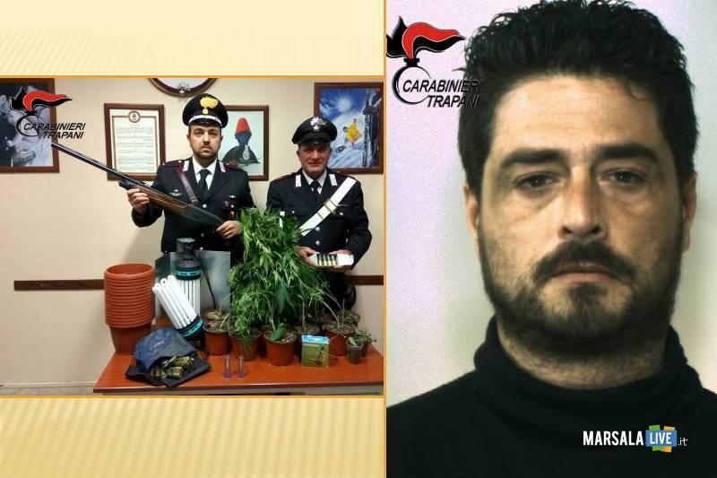 Carabinieri perlustrano il territorio grazie ad un'elicottero, giovane spacciatore arrestato