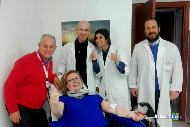 presidente galfano donatrice Donazioni Avis Marsala