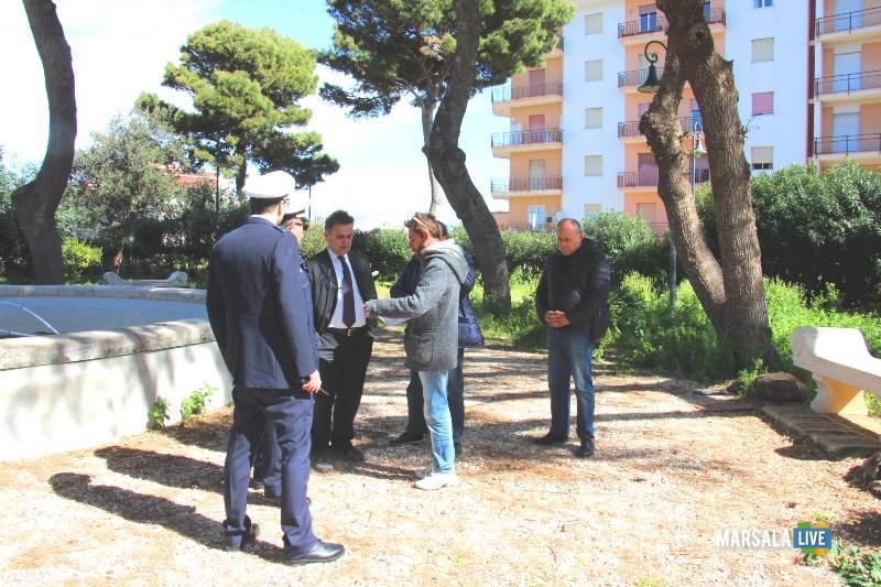 Marsala - Vandali a Villa Cavallotti - La solidarietà dell'Amministrazione