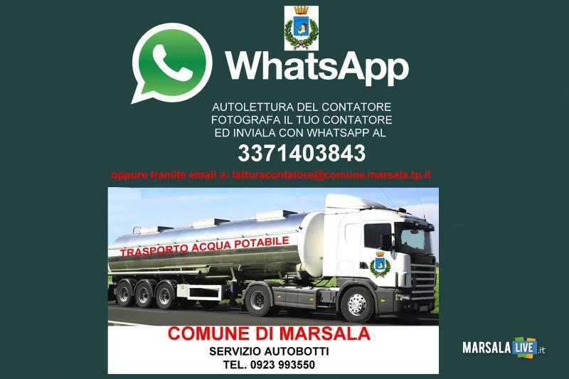 Marsala servizio autolettura acqua attivato whatsapp