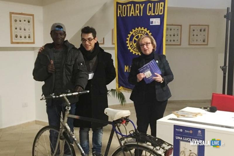 Rotary club Marsala Una luce per te bici