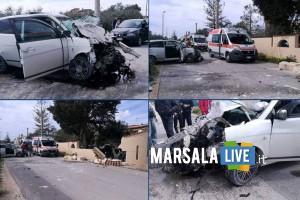 incidente contrada Ventrischi auto contro un muro-Marsala