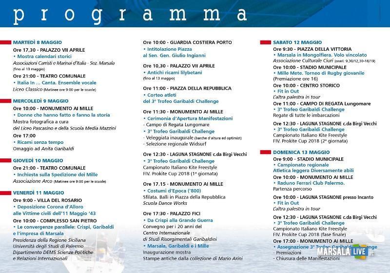 GARIBALDI2018 programma