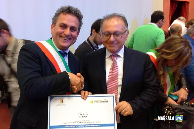 Raccolta differenziata la Regione premia Marsala
