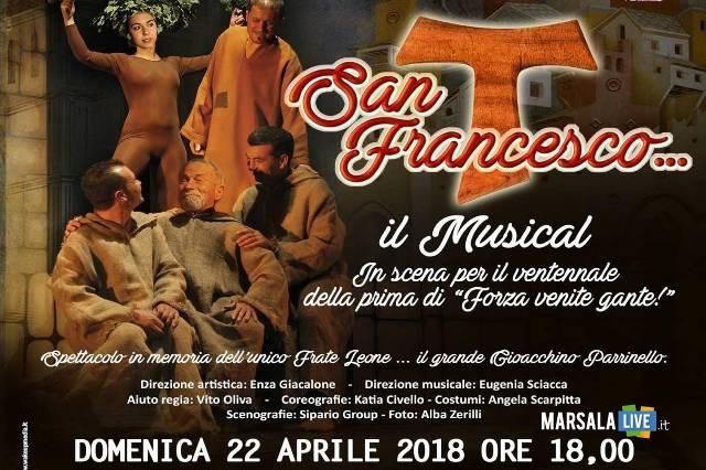 San Francesco Il Musical Impero Marsala Sipario 2018