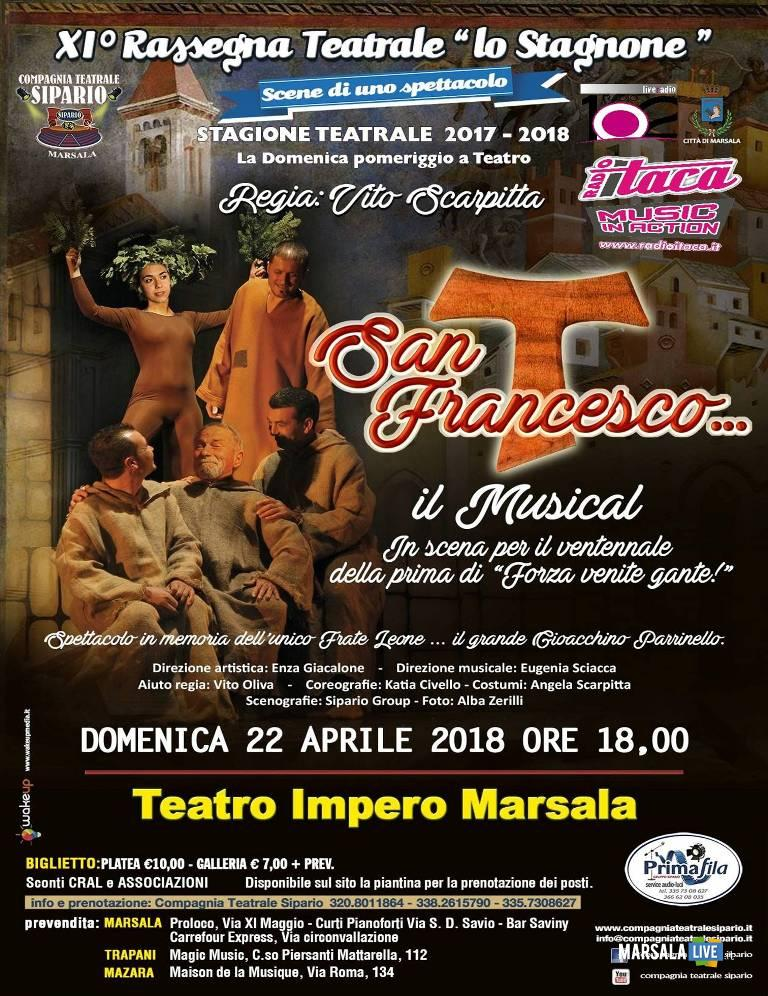 San Francesco Il Musical Impero Marsala Sipario