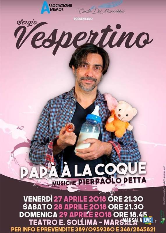 Sergio Vespertino a Marsala teatro sollima 2018