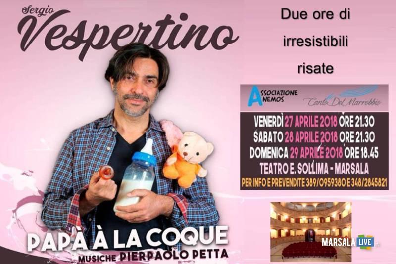 Sergio Vespertino a Marsala teatro sollima aprile 2018