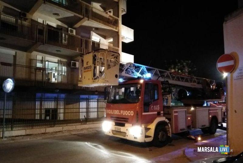 casa riposo marsala Giovanni XXIII Incendio 2018.
