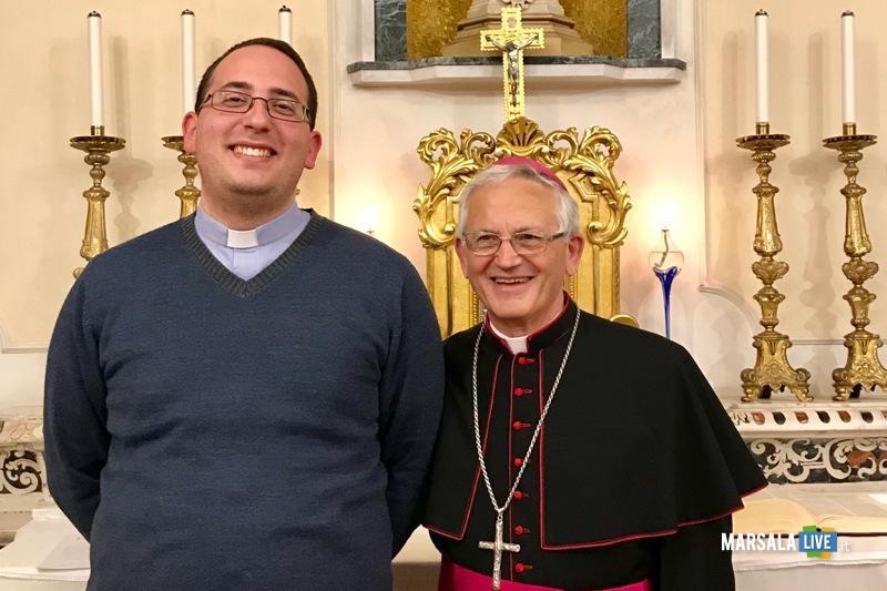 don Emanuel Mancuso con il vescovo Fragnelli
