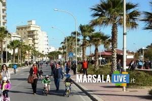 isola pedonale sul lungomare Colonnello Maltese Marsala
