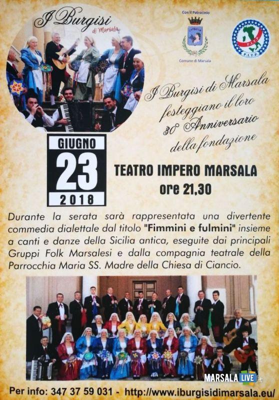 30esimo burgisi marsala teatro impero 2018