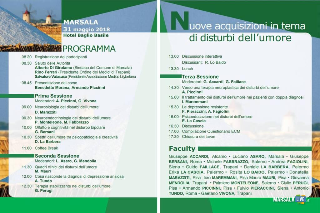 Depressione e disturbi dell_umore Marsala Petrosino programma