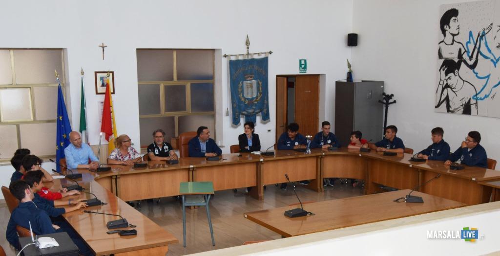 Pallamano, under 15 Giovinetto Petrosino ricevuta al Comune (2)