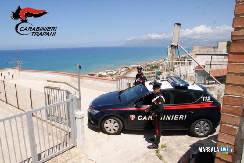 incendio di alcamo marina carabinieri