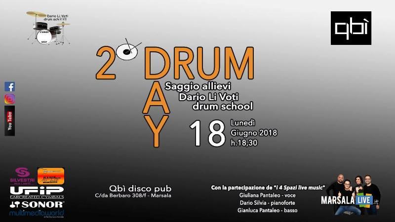 Drum Day, Dario Li Voti, I Quattro Spazi, Qbì, Marsala
