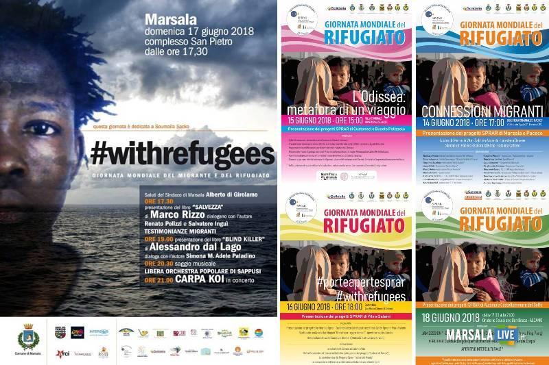 Giornata mondiale del Rifugiato Marsala e Trapani