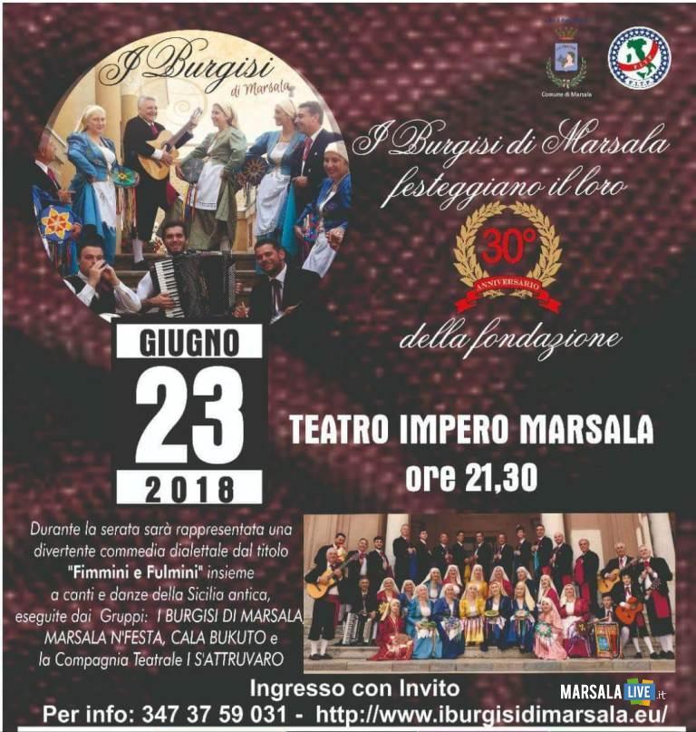I Burgisi di Marsala, 30° anniversario della fondazione-