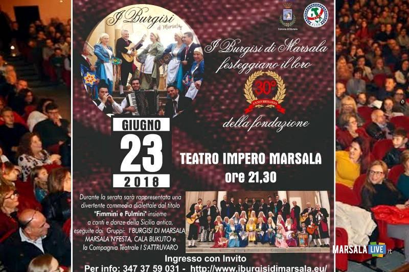 I Burgisi di Marsala, 30° anniversario della fondazione