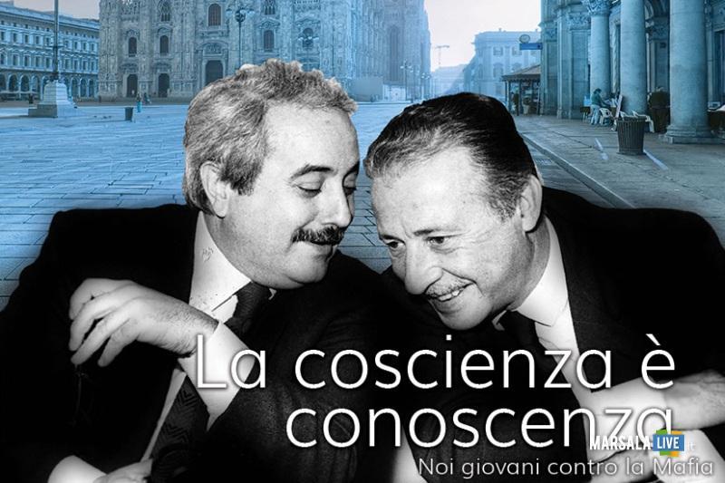Locandina iniziativa noi giovani contro la mafia Palermo