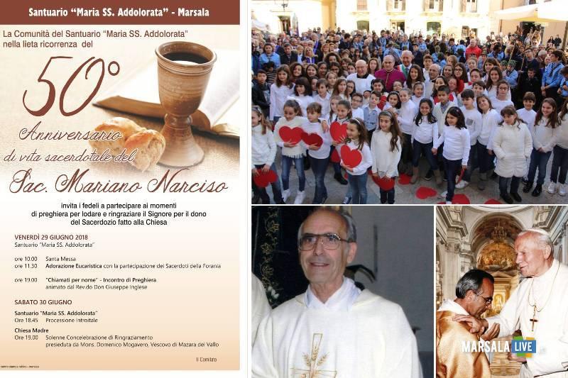 Marsala, Padre Narciso, 50 anni di sacerdozio