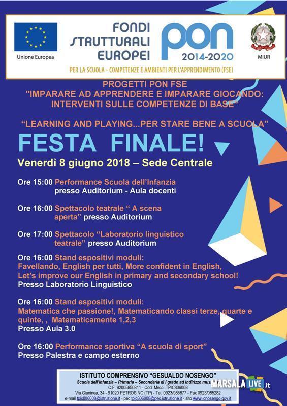Nosengo Petrosino manifestazione conclusiva Pon Fse (1)