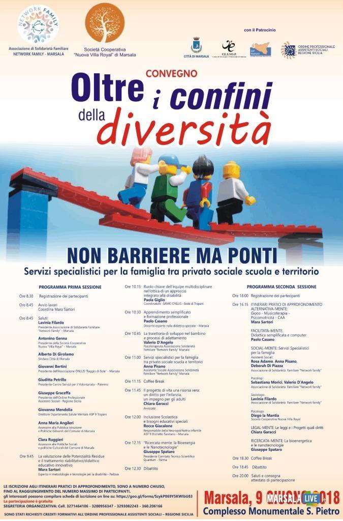 Oltre i confini della diversità, non barriere ma ponti - Marsala