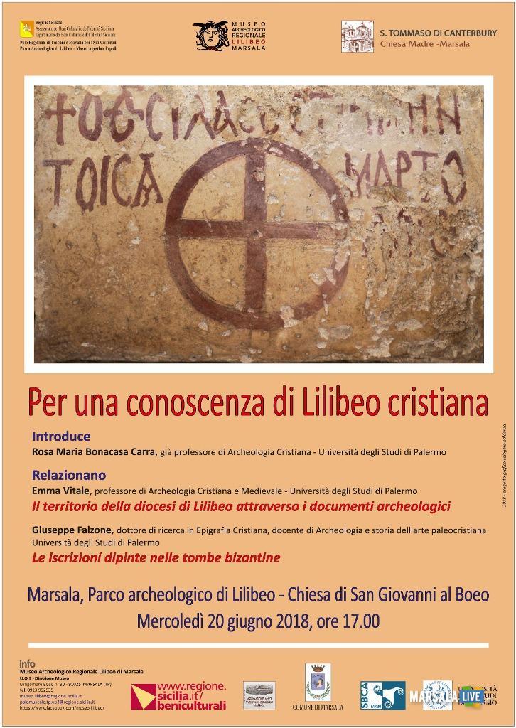 Per una conoscenza di lilibeo cristiana Parco archeologico lilibeo