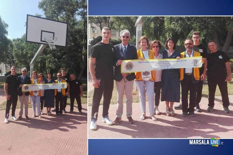 Petrosino, Parco della Pace canestro donato Lions Club