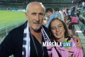 Sonia e Gaspare Barraco allo stadio Renzo Barbera Palermo