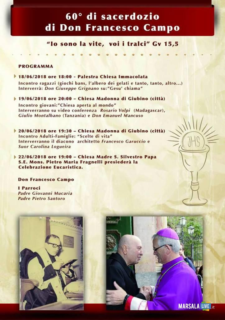 don Francesco Campo 60esimo anniversario