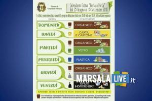 raccolta differenziata porta a porta Tre Fontane Torretta Granitola
