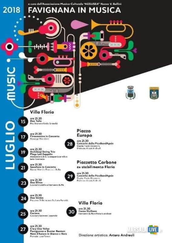 Favignana in Musica 2018
