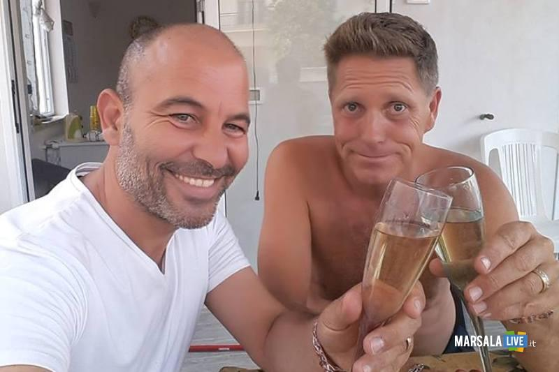 Marsala, Sebastiano e Markus sposi gay