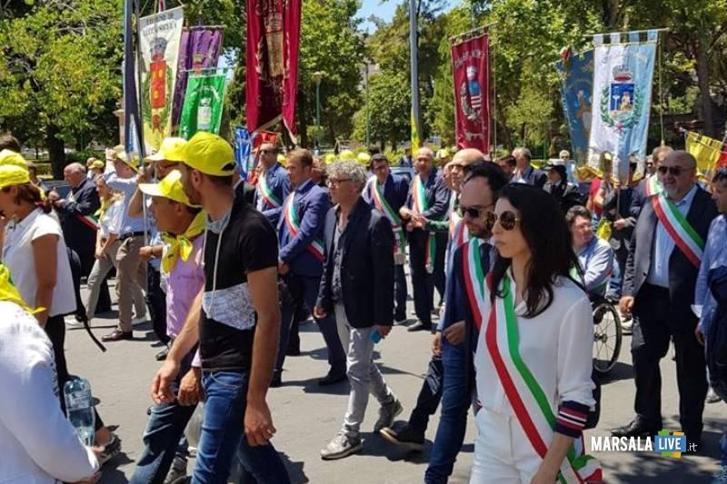 Valentina Accardo corteo Coldiretti Palermo 27.06.2018