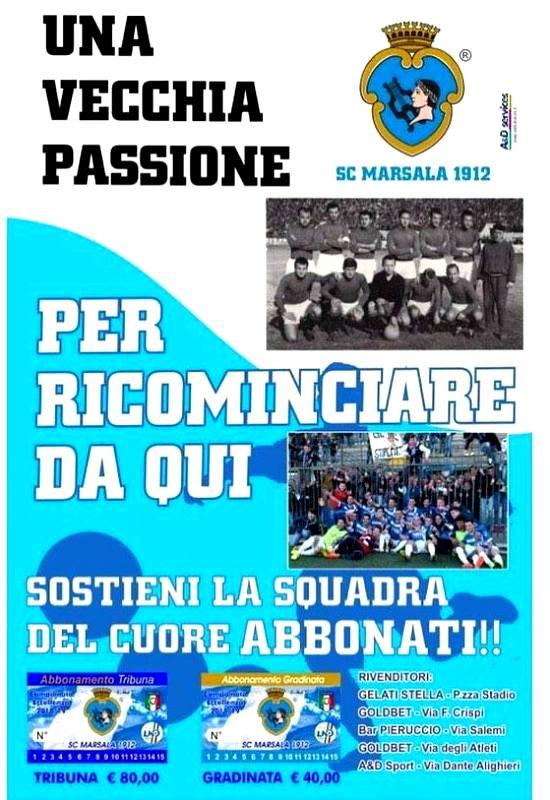 abbonamento marsala 1912 calcio locandina