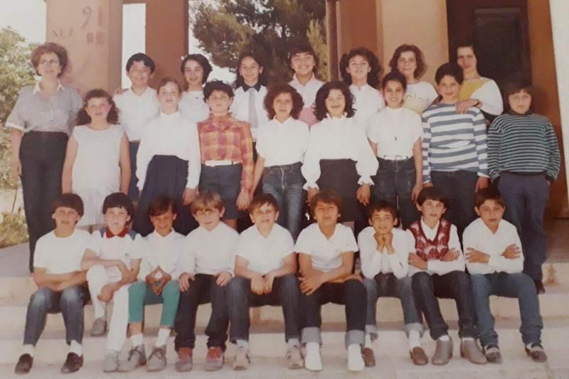 classe 5A 1984, plesso Maria Montessori, Strasatti Marsala