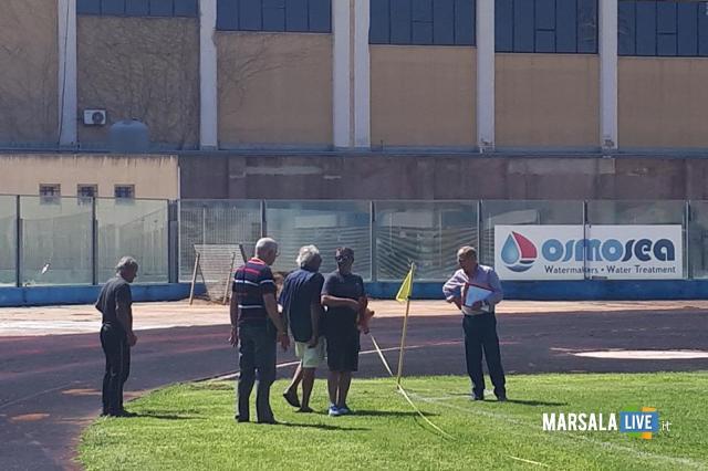 'ispezione federale al Municipale Stadio Marsala (3)