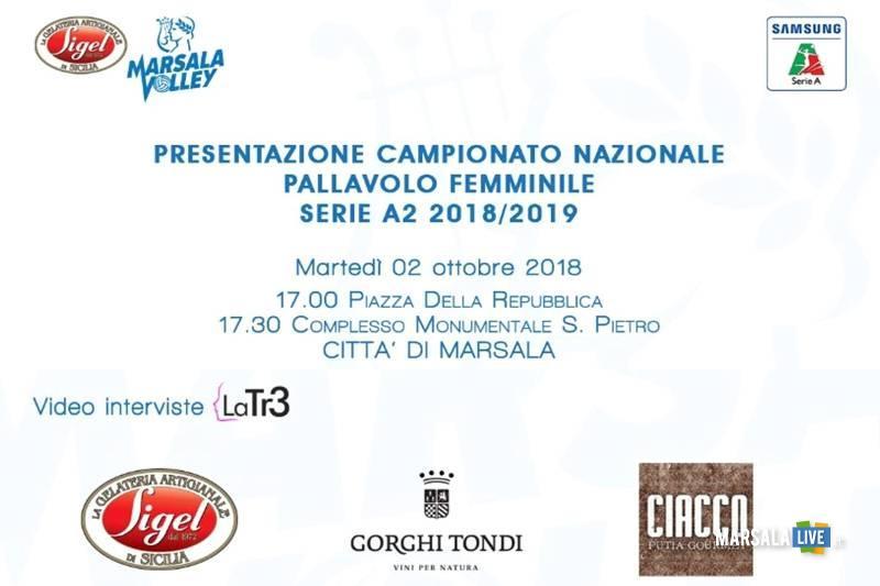 Marsala Volley, presentazione campionato nazionale Pallavolo Femminile Serie A2 2018-2019