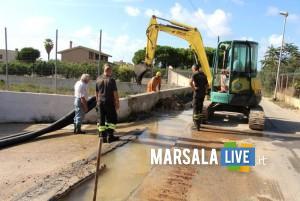 Marsala, rottura nella condotta idrica