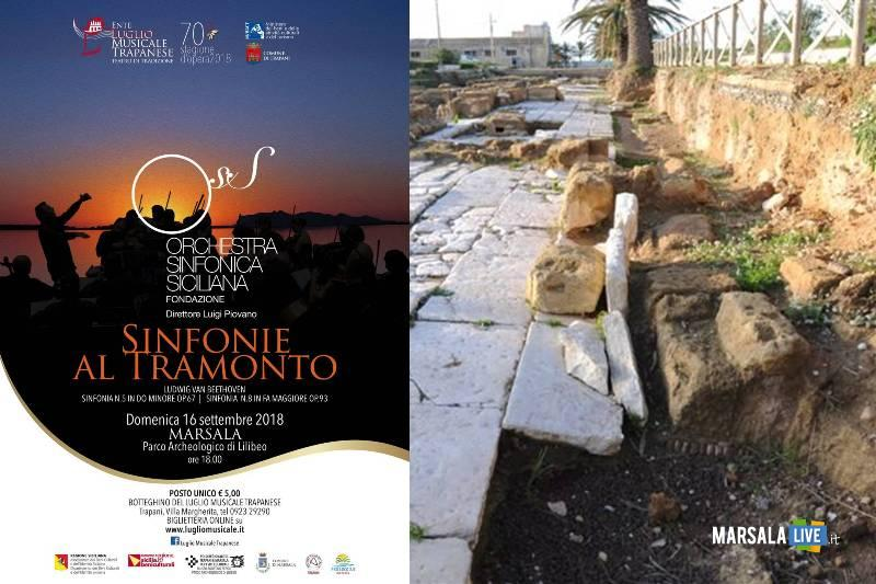Sinfonie al tramonto al Parco Archeologico di Lilibeo