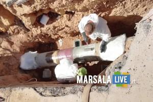 rottura riparata - rete idrica marsala cozzaro
