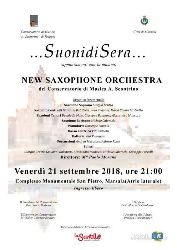 suonidisera - orchestra scontrino, marsala