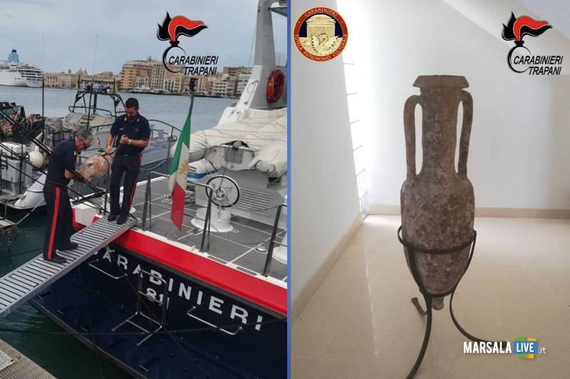 Carabinieri sequestrano 2 reperti archeologici del III sec. A.C.