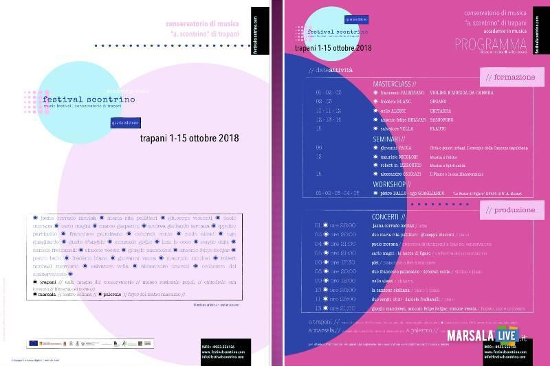 Conservatorio Musicale Scontrino, concerto Teatro comunale Marsala 13 ottobre