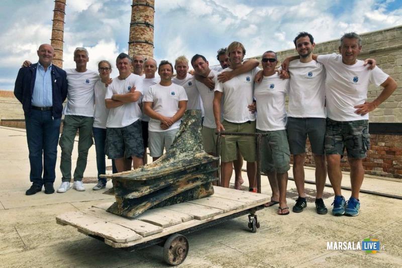 Rostro romano trovato in mare Egadi